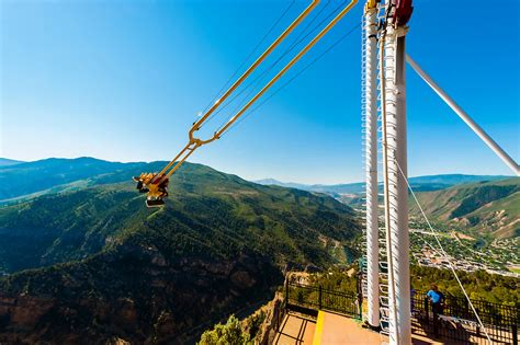 glenwood caverns adventure park swing the giant canyon swing 1 300 feet above the colorado