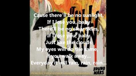 bruno mars it will rain lyrics on screen subtitulado bruno mars it will rain lyric youtube