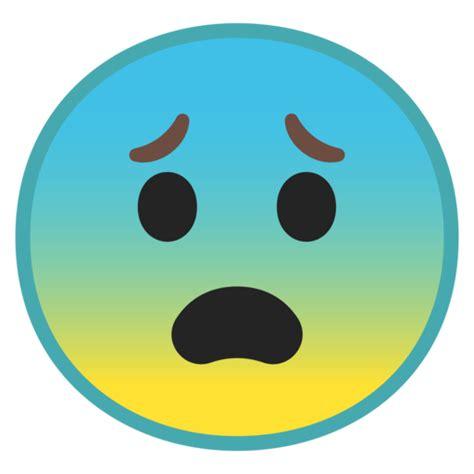 imagenes de emoji asustado visage effray 233 emoji