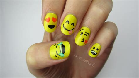 emoji nail art tutorial love cute polish s emoji nail art we heart it nails