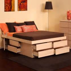 Platform Bed With Storage Custom Storage Beds Custommade