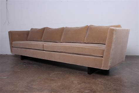 split couch split arm sofa by edward wormley for dunbar at 1stdibs