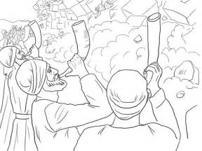 Walls Of Jericho Falling Coloring Page Free Printable Joshua And The Walls Of Jericho Coloring Page