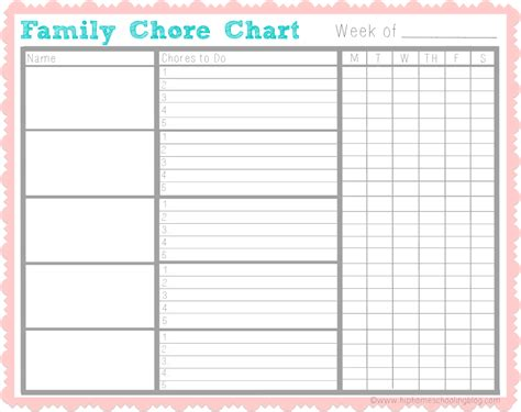 printable table graphs chores for kids get kids helping with my free chore chart