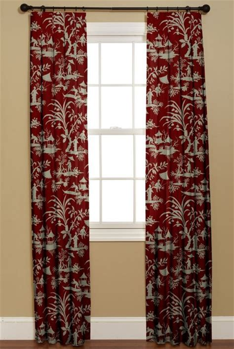 asian window curtains inverted box pleat curtain crystal lake lacquer asian