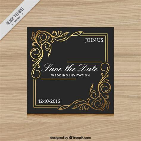 hochzeitseinladung gold elegante hochzeitseinladung schwarz und gold