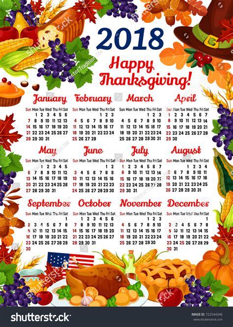 Calendar 2018 Thanksgiving Thanksgiving 2018 Calendar Madrat Co