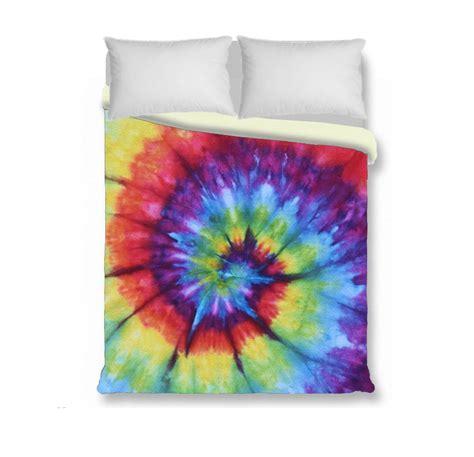 tie dye bedding duvet cover comforter cover tie dye bedding rainbow by