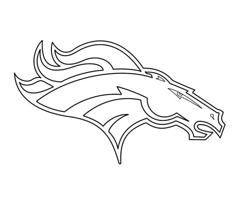 Denver Broncos Coloring Pages Print