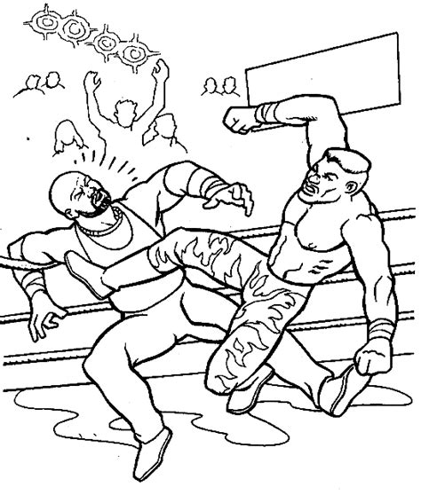 wrestling coloring pages for kids coloringpagesabc com