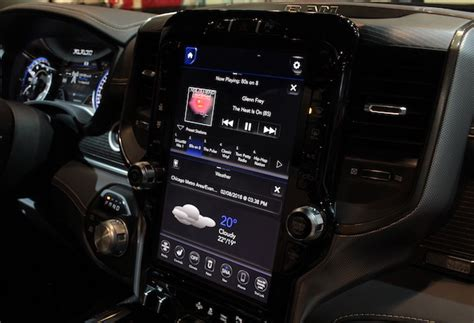 2019 Dodge Touch Screen by The 2019 Ram 1500 Shows Its 12 Inch