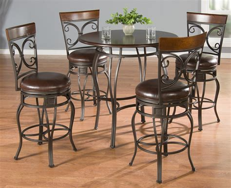Pub Table With Stools by American Heritage Delato 5 Pub Table Set W Treviso