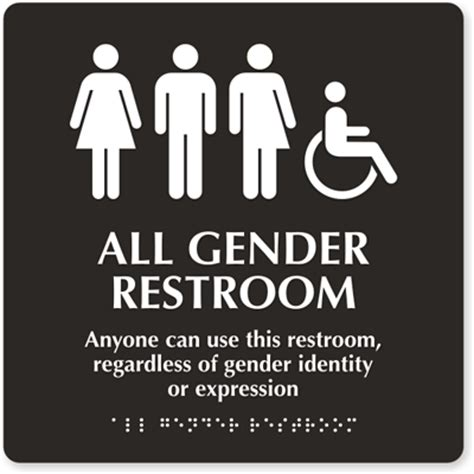 Transgender School Bathroom Gender Inclusive Restroom Signs Fights For Transgender Rights