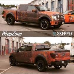 Barn Auto Parts Modern Ford F 150 Gets Rusty Wrap Looks Like Wicked Barn