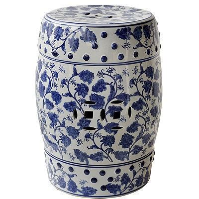 Garden Stool Blue White by Lot Of 2 Porcelain Garden Stool Blue White 17 5 Quot 67129