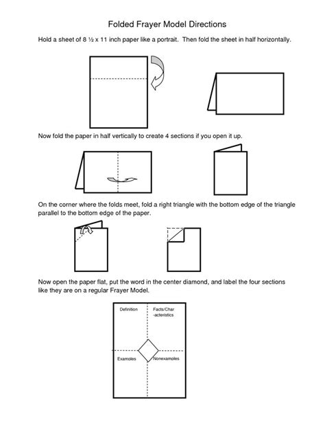 frayer model template doc frayer model template word directions for folded frayer