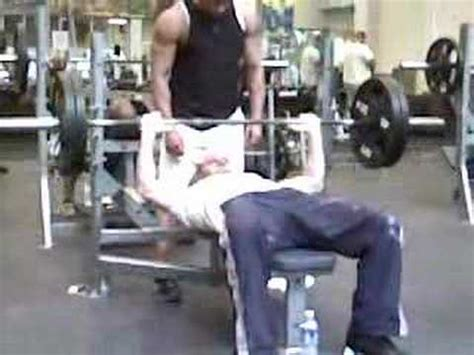 partial bench press 225 x 20 bench press partial reps 155lbs youtube