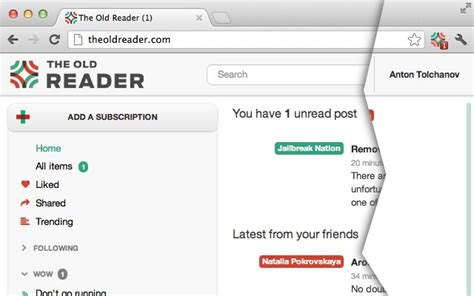 the old reader alternativa ao google reader leitor de feed the old reader