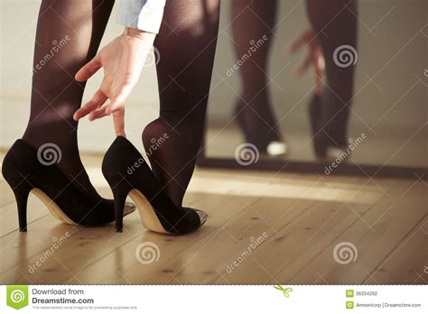 wearing high heels wearing high heels stock photography image
