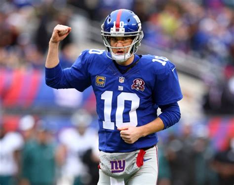 Giants Qb Eli Manning Scores Big With Funnyman David Letterman Last by Philadelphia Eagles 34 New York Giants 26 Big Blue