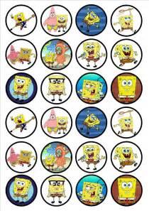 Spongebob Halloween Decorations Spongebob Squarepants Edible Premium Wafer Paper Cupcake