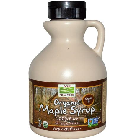 Maple Syrup by Now Foods Organic Maple Syrup Grade B Rich Flavor