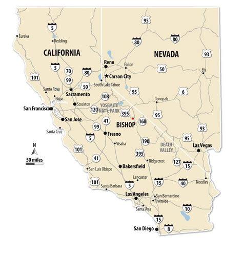 california map bishop bishop california map california map