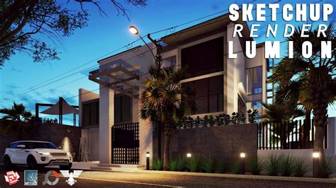 lumion night tutorial sketchup render lumion 6 50 best modern house night