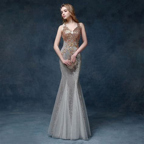 green  silver prom dresses     good