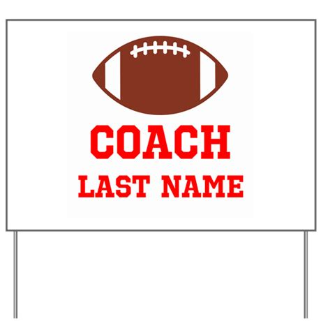 Football Coach Yard Sign By Collectionsofstuff Football Yard Sign Template