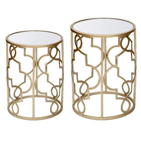 Gold Metal End Table gold metal end table home furniture design