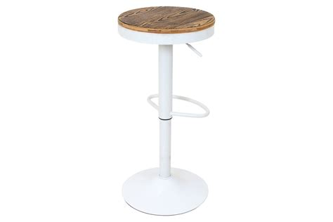 Dakota Adjustable Height Swivel Stool by Dakota Height Adjustable Barstool With Swivel In White By