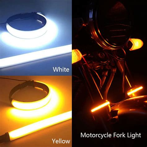 pc amber led motorcycle fork light  degree viewing