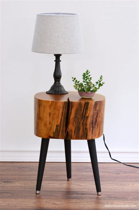 tree stump table diy tree stump side table with mix and match diy leg options