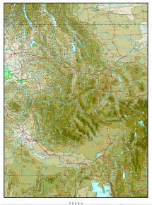 map of idaho idaho elevation map