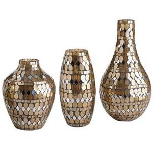 golden mosaic vases from pier 1 imports