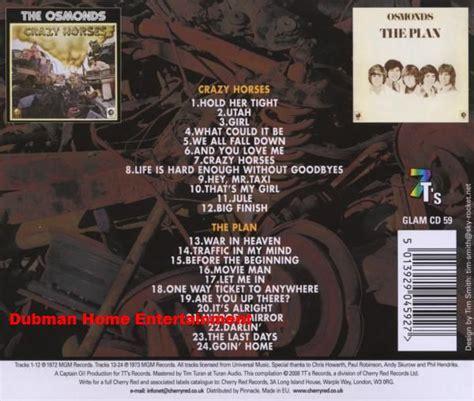 The Osmonds Horses Dvd osmonds grazy horses the plan dubman home entertainment