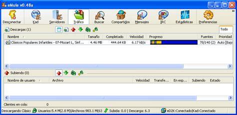 tutorial de internet basico gratis tutorial de emule p2p 6 controlar las descargas en emule