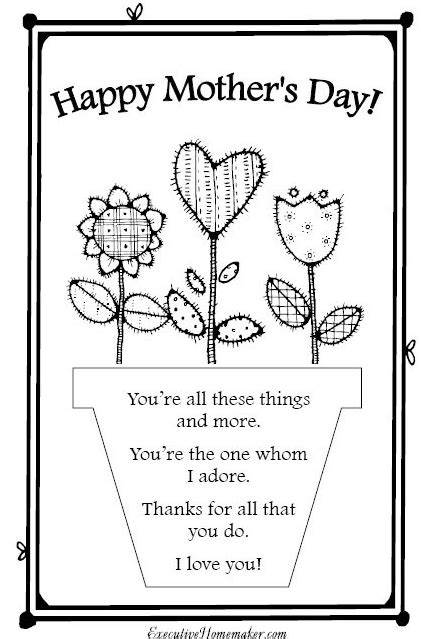 mothersday card template s day crafts with the blissfully domestic