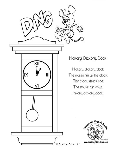 inkspired musings nursery rhyme time with hickory dickory
