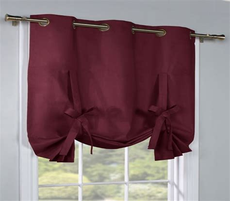red tie up curtains prescott insulated grommet tie up curtain thermal solid