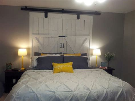 wooden door headboard ideas barn door headboard barn doors pinterest door