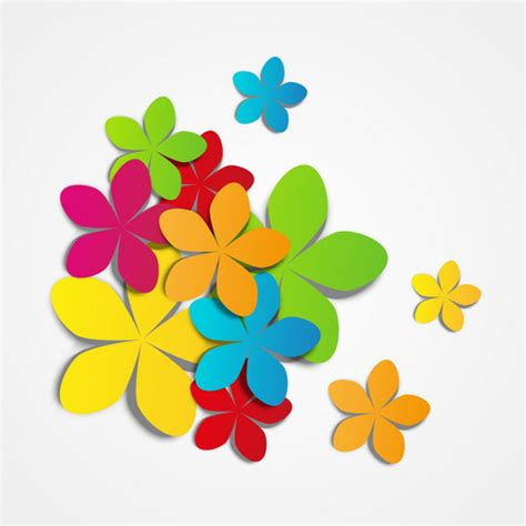 flower design using colored paper colored paper flower vector vector flower free download