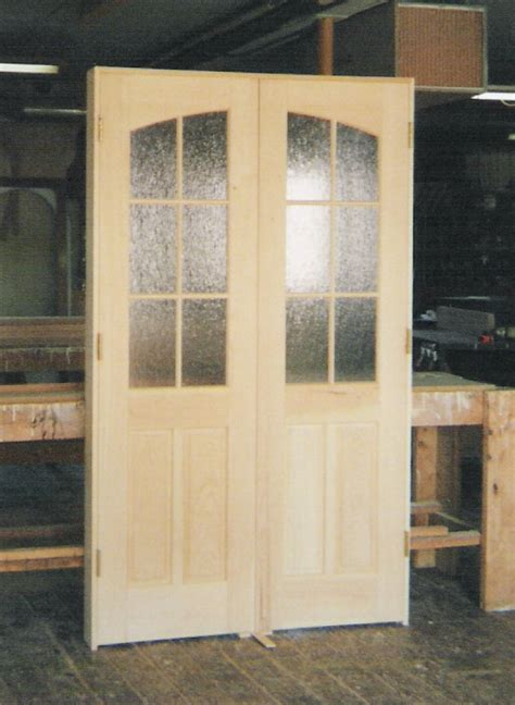 custom  interior solid wood doors french arch top