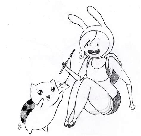 fionna and catbug by mad hattress ari on deviantart