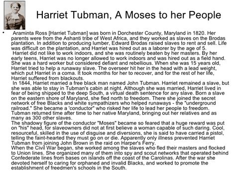 Harriet Tubman Essay by Unit 3 U S