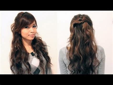 easy hairstyles for greasy curly hair quick and easy hairstyles for long curly hair