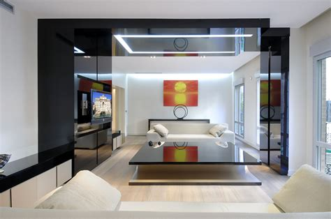 calm color of living room on luxury remodeled apartment