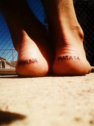 tattoo back heel hakuna matata back heel tattoo