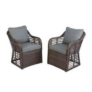 home depot chat hton bay crossing all weather wicker patio chat